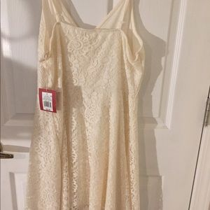 Mossimo Off White Lace Dress